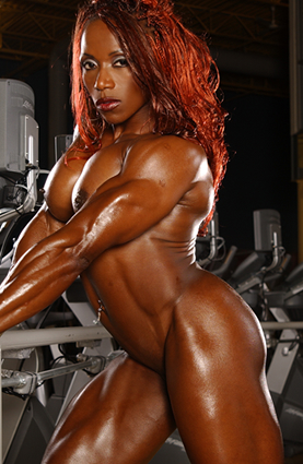 Ebony female bodybuilder fucked
